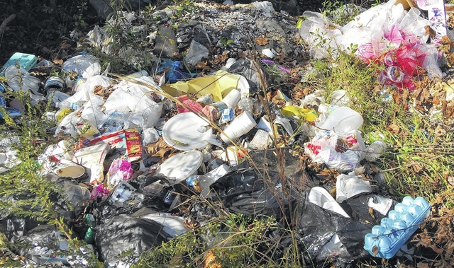 Melonie McLaurin | Daily Journal Trash Dumped At The End Of Sandhill Road,  Past Ashley Chapel Educational Center And Poplar Springs Baptist Church.