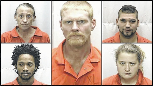 6 charged with selling drugs — meth, crack, pills — in